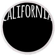 Hand California Round Beach Towel