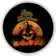 Happy Halloween Round Beach Towel