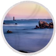 Harbor Light Round Beach Towel