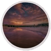 Harbour Sunset - St Ives Cornwall Round Beach Towel