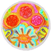 Harmonious And Inharmonious Worlds Round Beach Towel