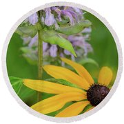 Round Beach Towel featuring the photograph Harmony In Nature by Dale Kincaid