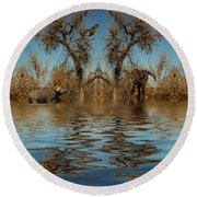 Round Beach Towel featuring the photograph Harmony In Nature by Mike Braun