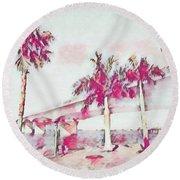 Harts Landing Sarasota Round Beach Towel