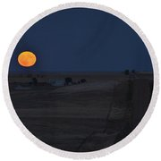 Harvest Moon 2 Round Beach Towel