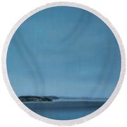 Hat Island View From Harborview Park Round Beach Towel