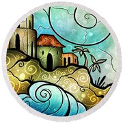 Havana Bay Round Beach Towel