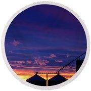 Havre Silhouette Round Beach Towel