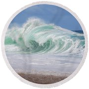 Hawaiian Shorebreak Round Beach Towel