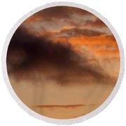 Hawaiian Sunset Vertical Panoramic  Round Beach Towel