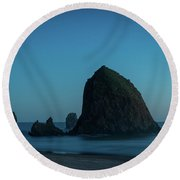 Haystack And Needles Round Beach Towel