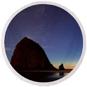 Haystack Night Sky Round Beach Towel