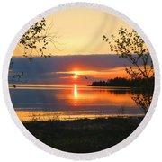 Headlands Sunset Round Beach Towel