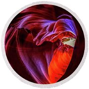 Heart Of Antelope Canyon Round Beach Towel