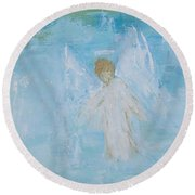 Heavenly Angel Child Round Beach Towel