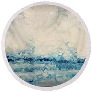 Round Beach Towel featuring the painting Hebrews 4 16. Come Boldly by Mark Lawrence
