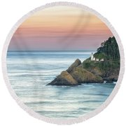 Heceta Lighthouse Round Beach Towel