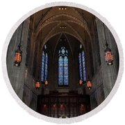 Round Beach Towel featuring the photograph Heinz Memorial Chapel by Guy Whiteley