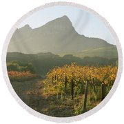 Helderburg Vineyard Round Beach Towel