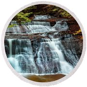 Hell's Hollow At Mcconnell's Mill Round Beach Towel
