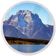 Round Beach Towel featuring the photograph Hermitage Point by Pete Federico