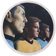 Heroes Of The Final Frontier Round Beach Towel