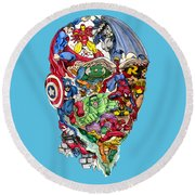 Heroic Mind Round Beach Towel