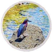 Heron Bluff Round Beach Towel