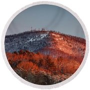Hibriten Mountain - Lenoir, North Carolina Round Beach Towel