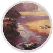 Hidden Path To The Sea Round Beach Towel