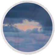 High Above The Clouds Round Beach Towel