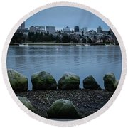 High And Low Tide Round Beach Towel