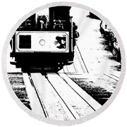 Hill Street Noir Round Beach Towel