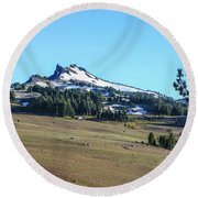 Round Beach Towel featuring the photograph Hillman Peak Crater Lake National Park by Dawn Richards