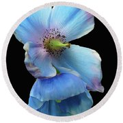 Himalayan Blue Poppy Round Beach Towel