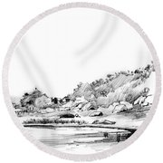 Hingham Bay  Round Beach Towel