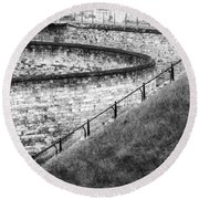 Lincoln Castle Round Beach Towel