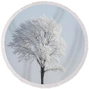 Hoar Frost At Bvg 2018-8 Round Beach Towel