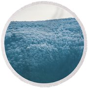 Hoarfrost Blue Mountain Round Beach Towel