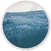 Hoarfrost Blue Mountain Round Beach Towel