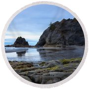 Round Beach Towel featuring the photograph Hole In The Wall by Sharon Seaward