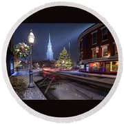 Holiday Magic, Market Square Round Beach Towel