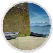 Holidays In St Ives Cornwall Round Beach Towel
