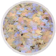 Home Leaves3 Round Beach Towel