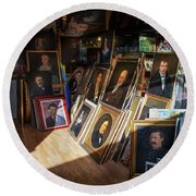 Round Beach Towel featuring the photograph Home Of Lost Portraits by Craig J Satterlee
