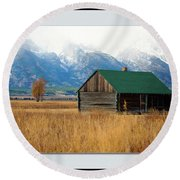 Round Beach Towel featuring the photograph Home On The Range by Pete Federico