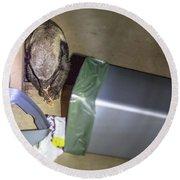 Honey Badger Of South Africa Round Beach Towel