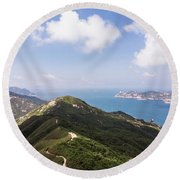 Hong Kong Dragon Back Round Beach Towel