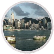 Hong Kong Star Round Beach Towel