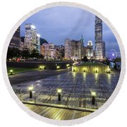 Hong Kong Twilight Round Beach Towel